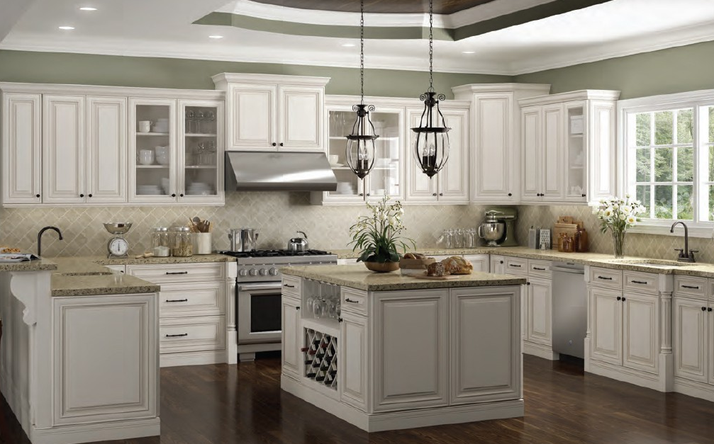 Charleston Antique White 5day Cabinets All Wood