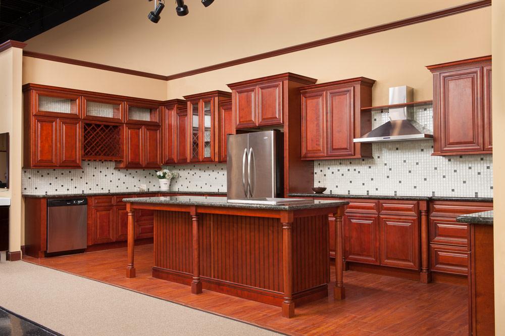 Genial Charleston Cherry   5Day Cabinets   All Wood Kitchen Cabinets / Sales /  Installation / Granite