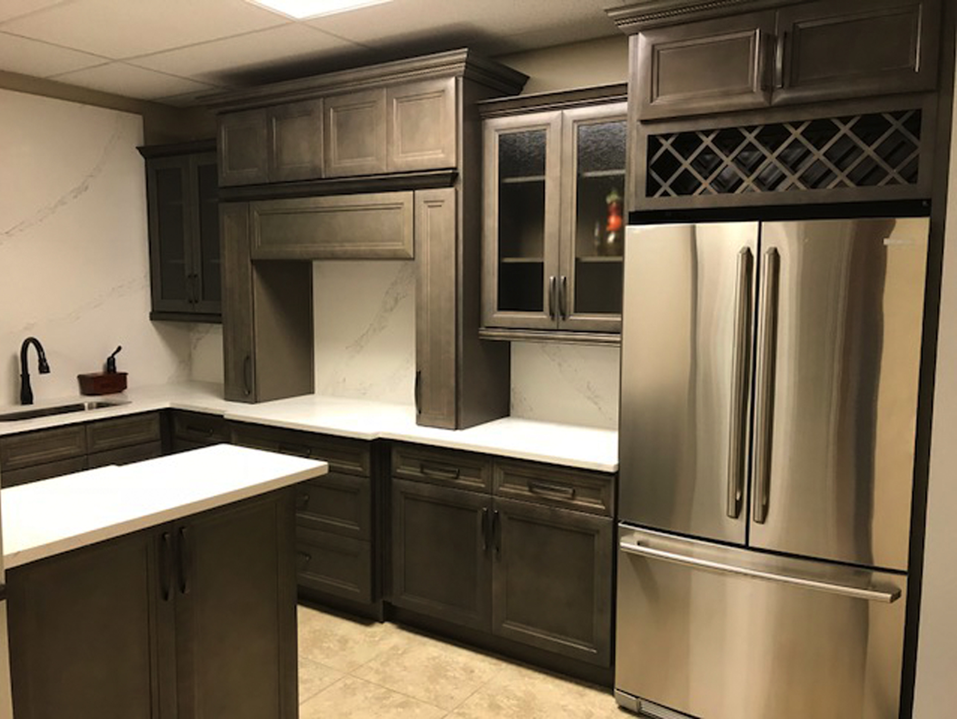 Anchor Grey - 5Day Cabinets - All Wood Kitchen Cabinets ...